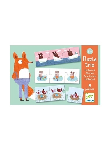 Djeco Djeco İkili Puzzle/ Stories Pembe